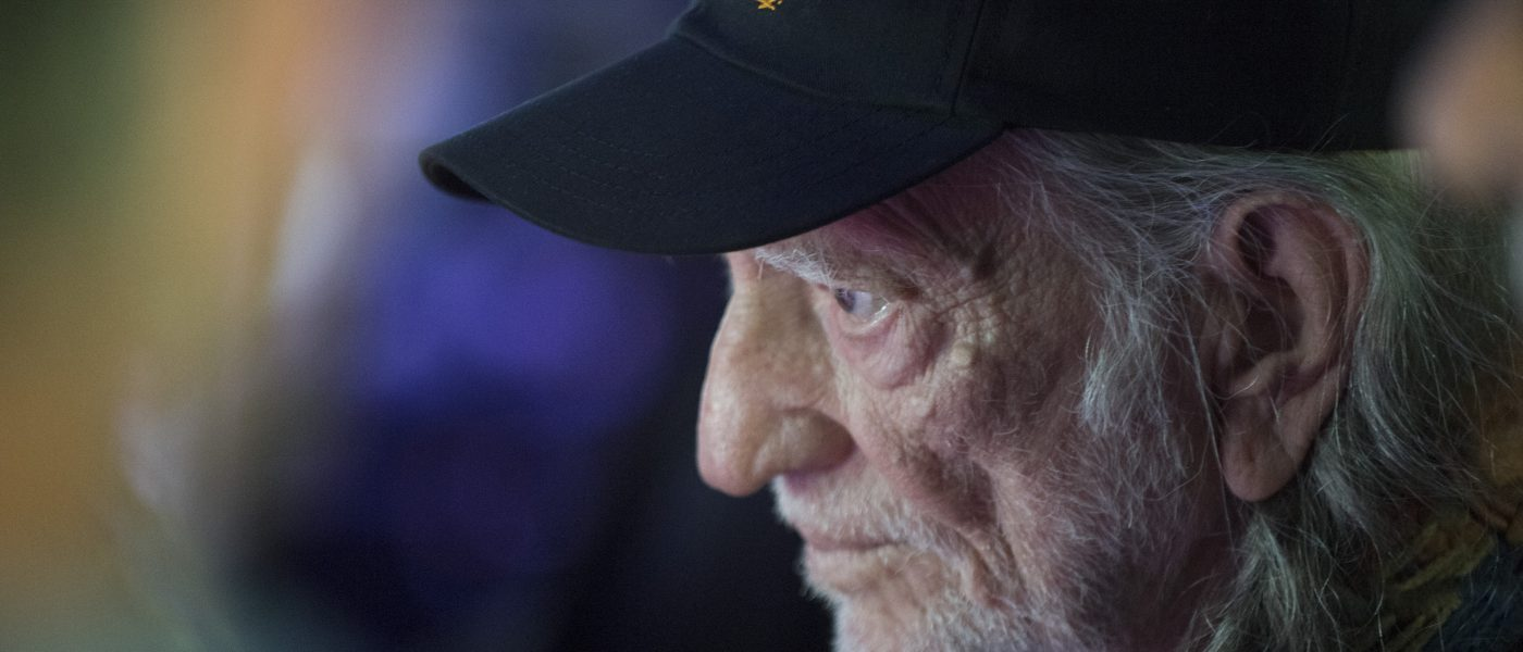 Willie Nelson backstage at Farm Aid 2017